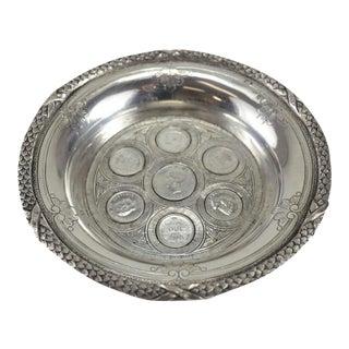 Circa 1910 Exceptional Porto Portuguese Coin Silver Champagne Coaster Dish - Set of 7