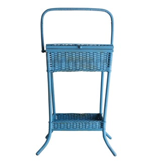 Heywood Wakefield Wicker Standing Basket