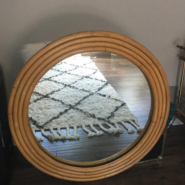 "Rattan Framed Round Mirror 30.5"" - Image 3 of 7"