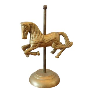 Vintage Brass Carousel Horse Figurine