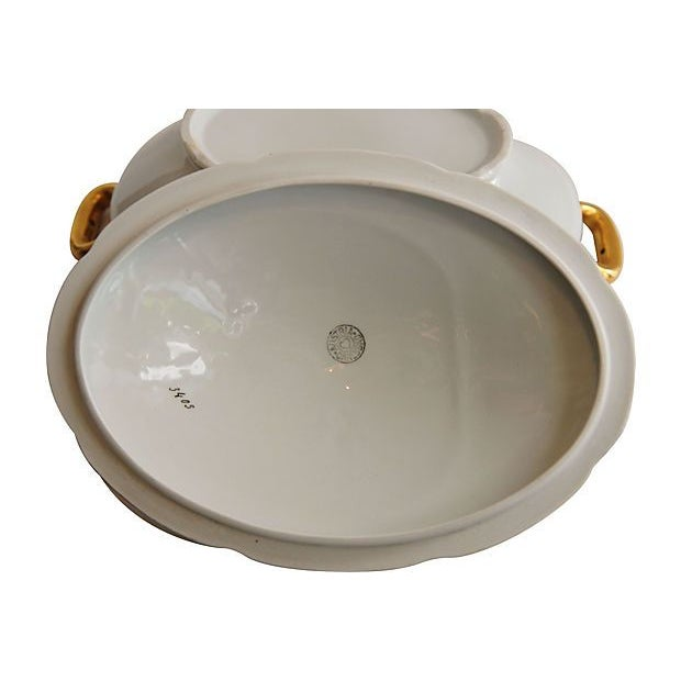 Image of Austrian White & Gold Covered Dish