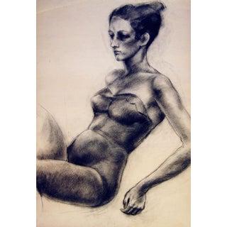 1950s Charcoal Figure Study III