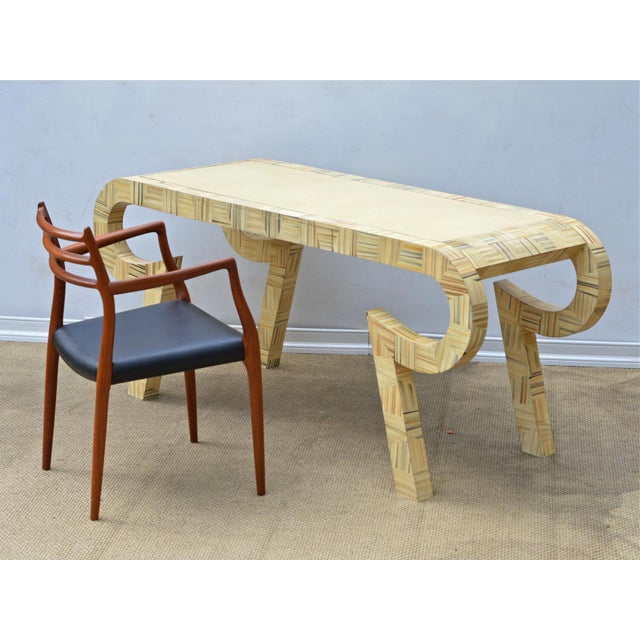 Alessandro Painted & Lacquered Console / Desk for Baker Furniture - Image 11 of 11