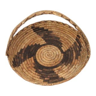 Early 20th Century Papago Indian Handled Basket