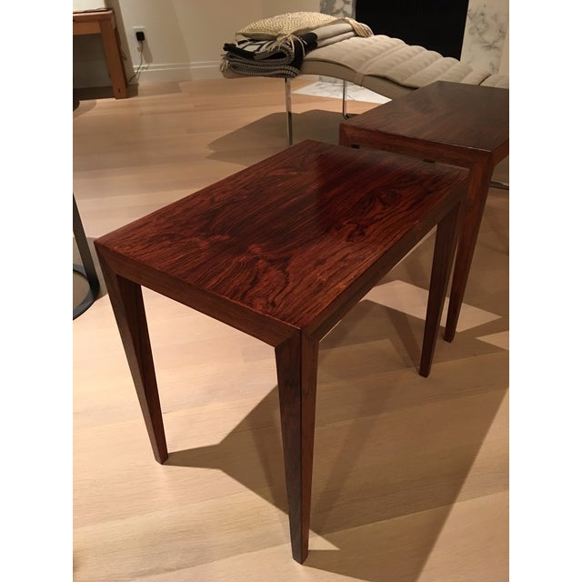 Vintage Danish Midcentury Rosewood Side Tables - 2 - Image 4 of 5