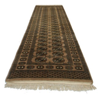 RugsinDallas Vintage Bokhara Wool Runner - 2′8″ × 8′2″
