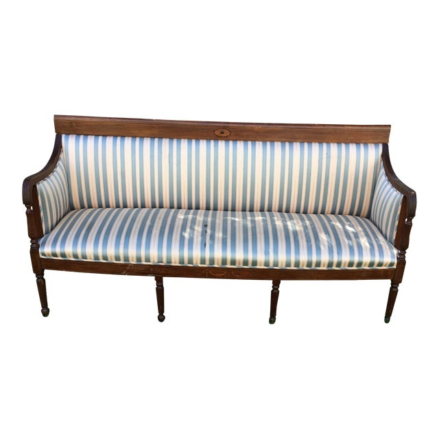 Traditional antique sheraton style loveseat chairish Antique loveseat styles
