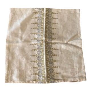 Serena & Lily Metallic Linen Pillow Cover