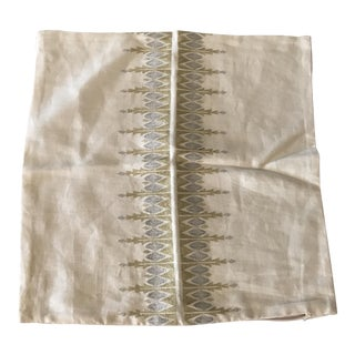 Serena & Lily Metallic Linen Pillow Cover