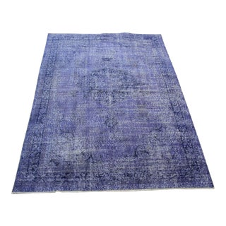 "Lilac Colour Turkish Overdyed Rug - 5'6"" X 8'5"""