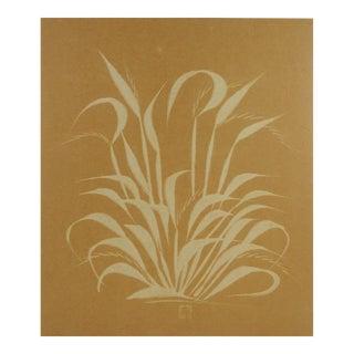 Botanical Grass Shadow Print