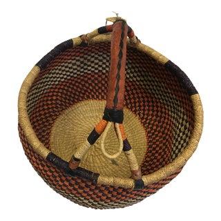 Natural Grass Hand Woven Basket From Ghana