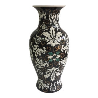 Multicolored Chinese Floral Vase