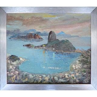 Oil on Canvas of a Coastal Scene by Fabio Matania