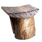 Image of Early 20th C. Handmade Rustic Tree Stump Stool