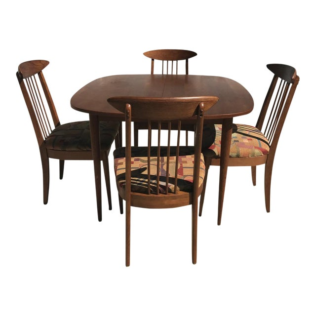 Lenoir Broyhill Mid-Century Modern Dining Set - Table & 4 Chairs - Image 1 of 10