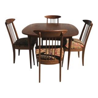 Lenoir Broyhill Mid-Century Modern Dining Set - Table & 4 Chairs
