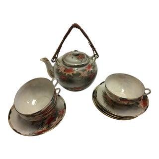 Japanese Porcelain Tea Set - Set of 10