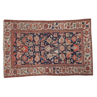 "Distressed Antique Malayer Rug - 4'1"" X 6'4"""