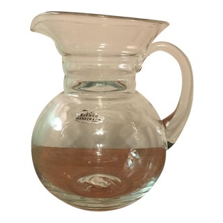 Vintage Blenko Clear Glass Pitcher