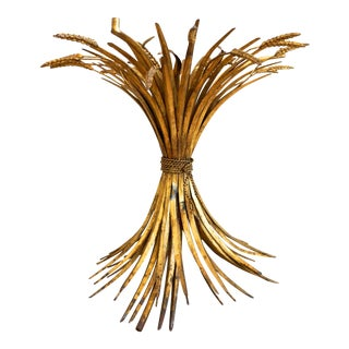 Gold Metal Sheaf of Wheat Table