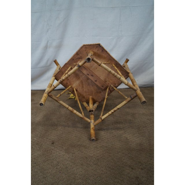 Antique 19th C. Victorian Bamboo Corner Chair - Image 10 of 10