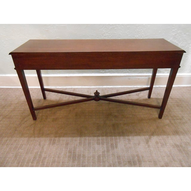 Mariette Himes Gomez Mahogany Console Table - Image 8 of 10