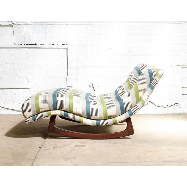 "Adrian Pearsall ""Wave"" Chaise Rocker - Image 4 of 11"