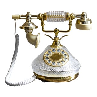 French Crystal Rotary Style Phone
