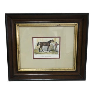 19th Century Hand Colored Thoroughbred Lithograph