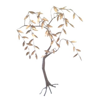 Jere Brass & Bronze Will Tree Wall Sculpture