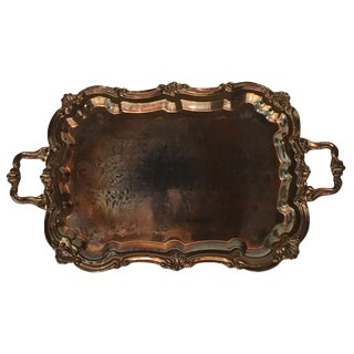 Baroque Silver Footed Tray