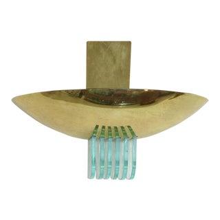 1960s Brass Sconce by Stilnovo with Glass Vents