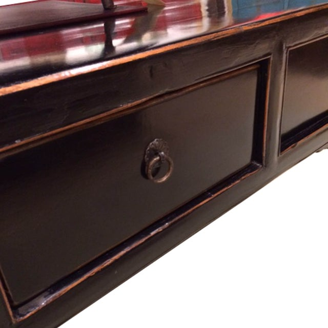 Image of Four Drawer Black Coffee Table