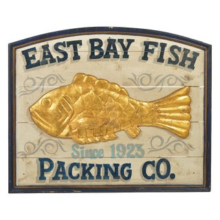 East Bay Fish Packing Company Trade Sign