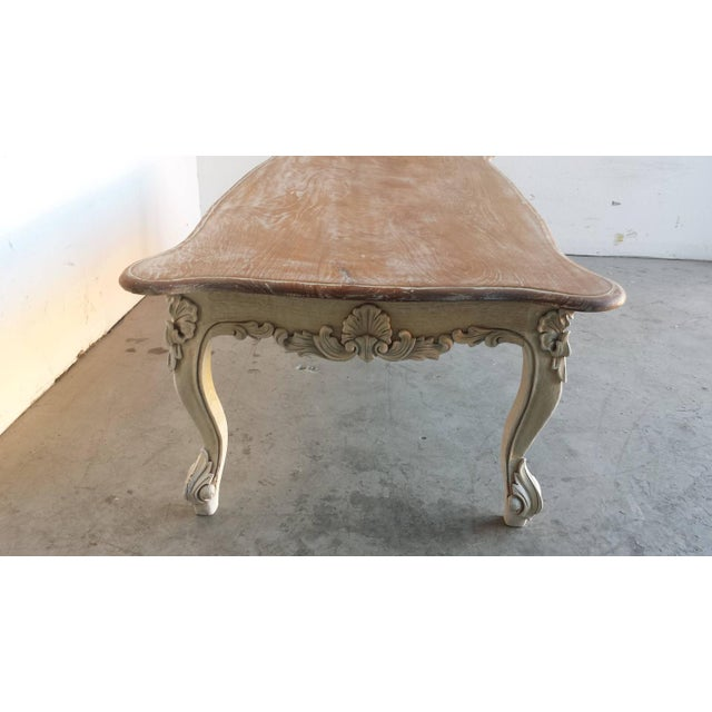 French Country Style Carved Coffee Table - Image 4 of 4
