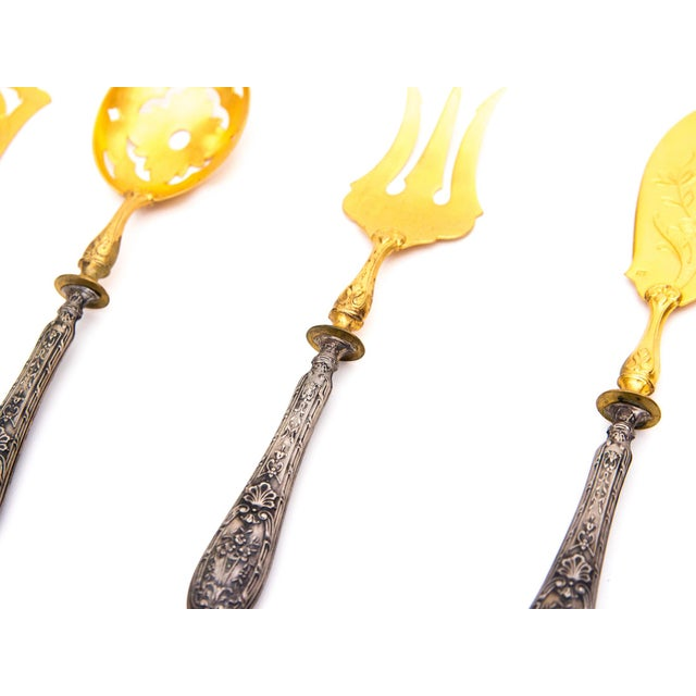 Image of Victorian Flatware Set With Absinthe Spoon
