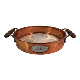 Vintage Copper Le Servir Pie Pan Holder