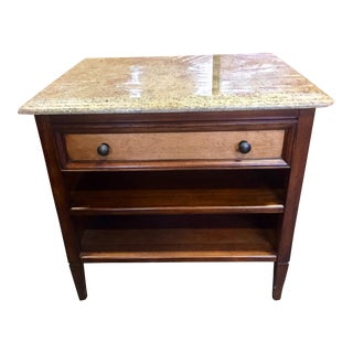 Rustic Empire Wormwood & Marble Nightstand