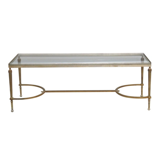 Jansen Directoire Style Glasstop Coffee Table - Image 1 of 6