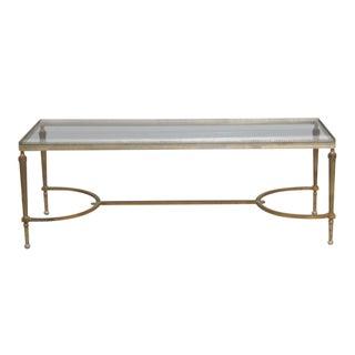 Jansen Directoire Style Glasstop Coffee Table