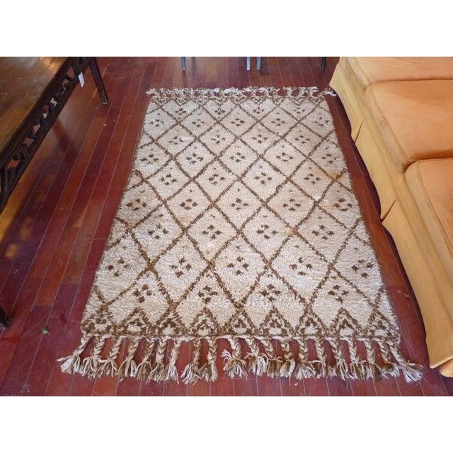 Vintage Handmade Moroccan Rug - Image 2 of 9