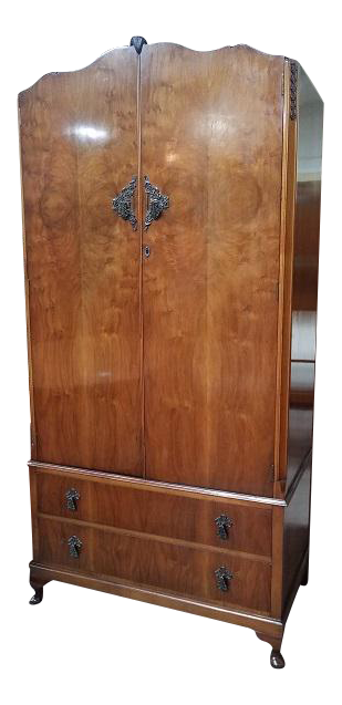 N54 Walnut Armoire. C. 1940u0027s UK Import