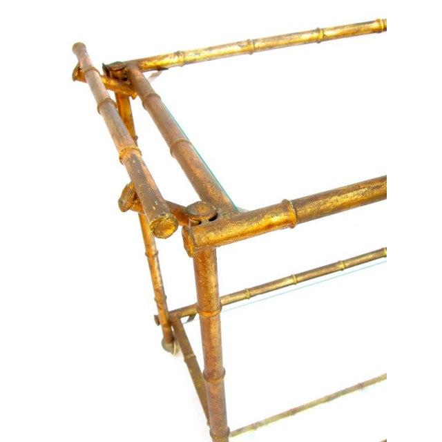 Vintage Italian Faux Bamboo Gold Bar Cart Chairish