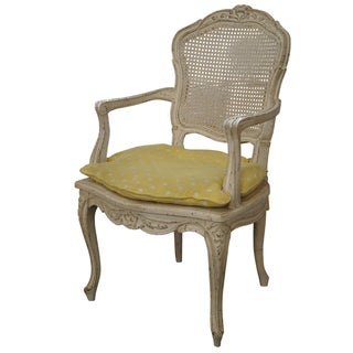 French Louis XV-Style Painted Armchair