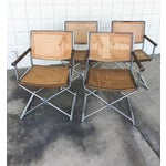 Image of Mid-Century Faux Bamboo & Chrome Directors Chairs