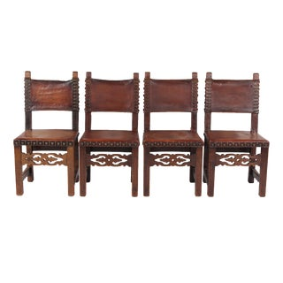 1920s Spanish Mission Style Chairs - Set of 4