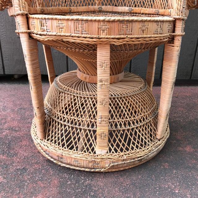 Vintage Wicker Peacock Fan Chair - Image 7 of 7