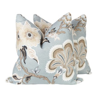 Schumacher Hothouse Flowers Linen Pillows - A Pair