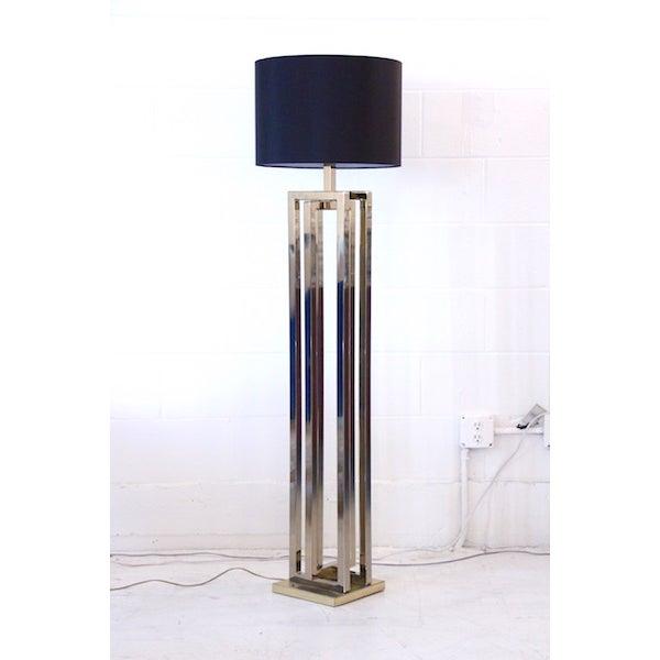 Image of Milo Baughman Brass Deco Floor Lamp